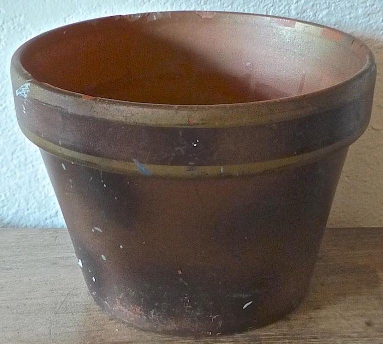 French mid-20th century small ceramic pot.