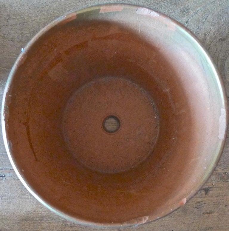 French Mid-20th Century Small Ceramic Pot In Distressed Condition For Sale In Santa Monica, CA