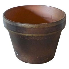 French Mid-20th Century Small Ceramic Pot