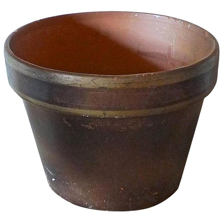 French Mid-20th Century Small Ceramic Pot For Sale