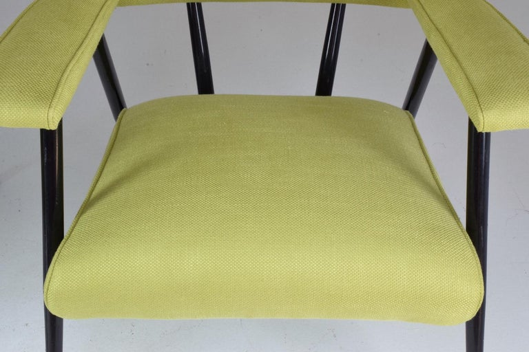 French Midcentury Armchairs, Set of Four, 1950s For Sale 4