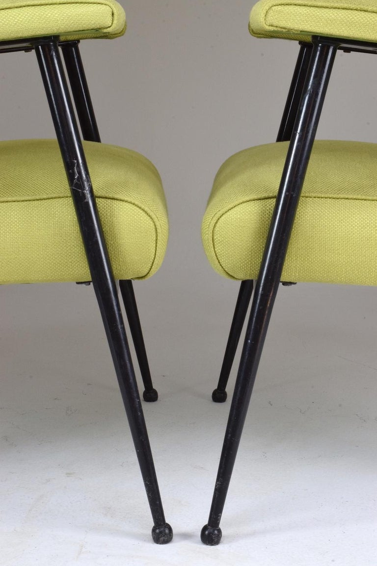 French Midcentury Armchairs, Set of Four, 1950s For Sale 5