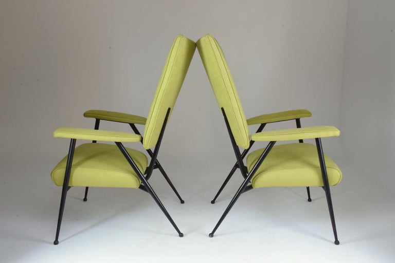 Mid-Century Modern French Midcentury Armchairs, Set of Four, 1950s For Sale