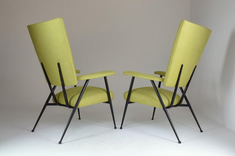 French Midcentury Armchairs, Set of Four, 1950s In Good Condition For Sale In Paris, FR