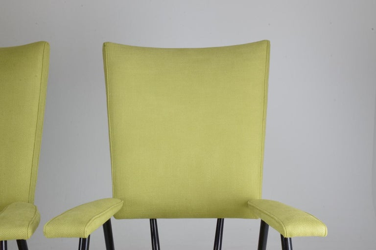20th Century French Midcentury Armchairs, Set of Four, 1950s For Sale