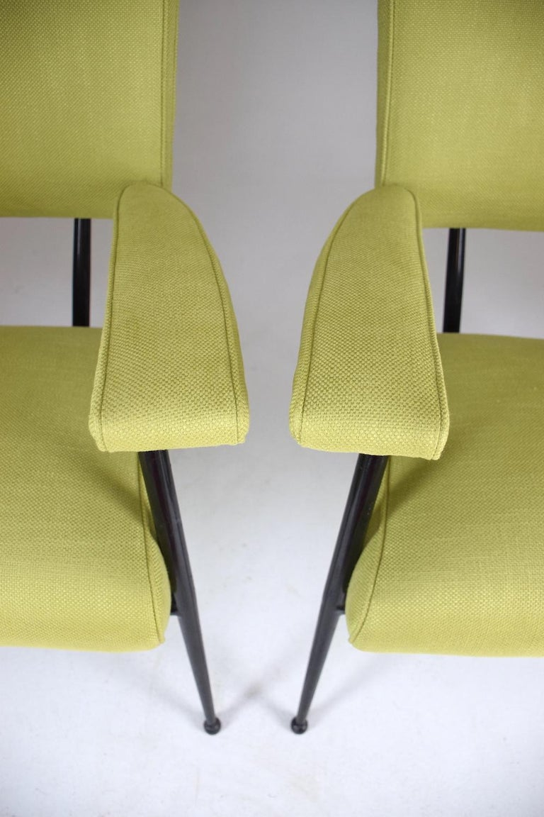 French Midcentury Armchairs, Set of Four, 1950s For Sale 3
