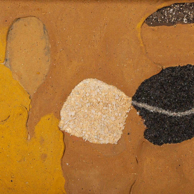 Mixed media painting JEAN PIAUBERT, signed  Piaubert was one of the leading European post-war artists, and enjoyed enormous international exposure. In Paris he was part of a group of avant-garde artists that was centred around Galerie Denise René