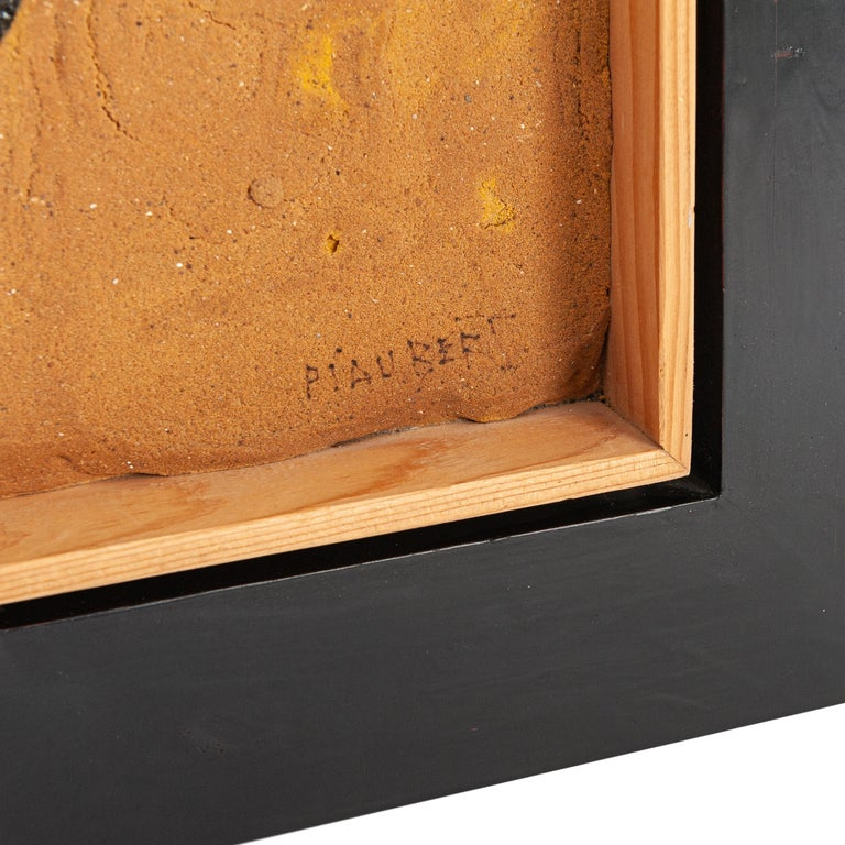 Mid-Century Modern French Mid-Century Art Work by Jean Piaubert Plaster & Mixed Media on Panel 1965 For Sale