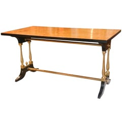 French Midcentury Burl Walnut Coffee Table