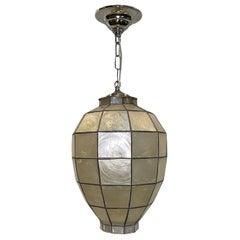 French Midcentury Capiz Lantern