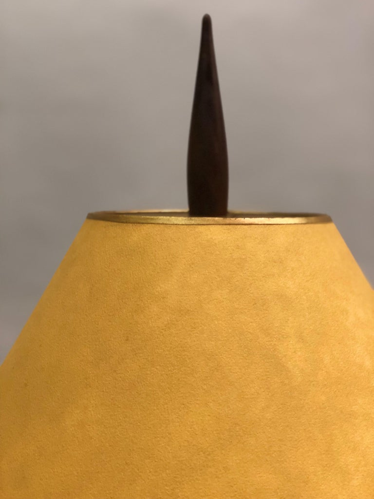 French Midcentury Copper, Bronze and Brass Floral Table Lamp by Maison Charles For Sale 5
