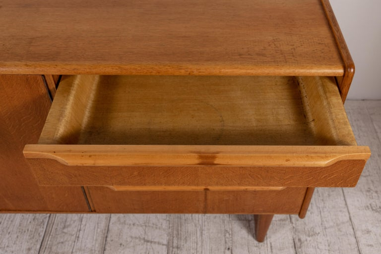French Midcentury Credenza with Plinth Legs 5