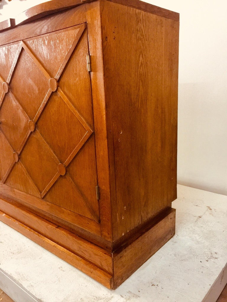 "Mid-20th Century French Midcentury ""Croissilon"" Lattice Front Oversized Sideboard For Sale"