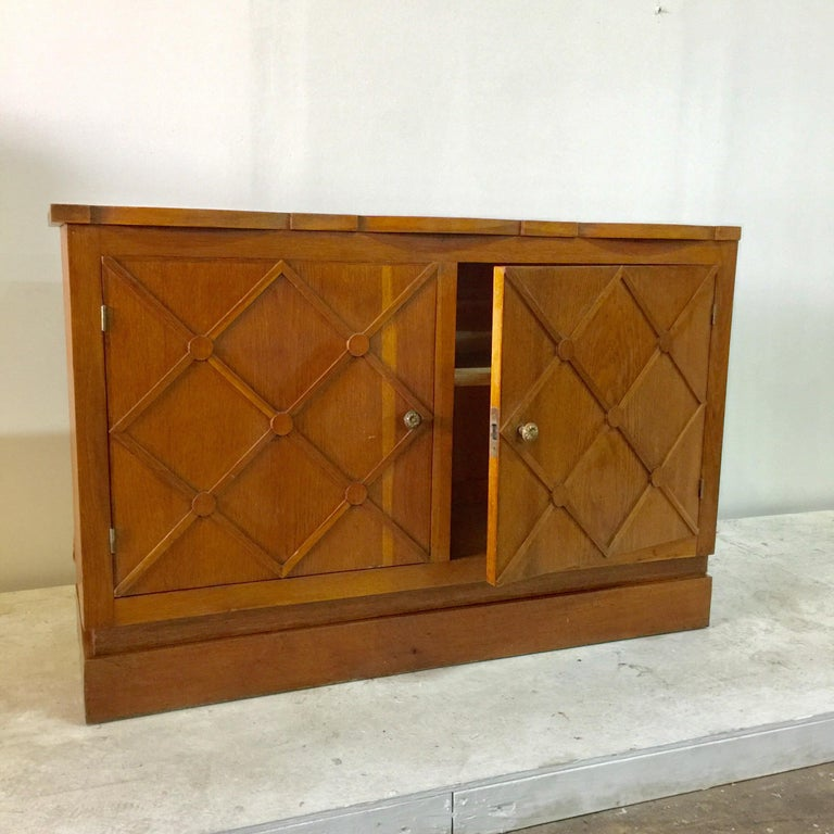 """French Midcentury """"Croissilon"""" Lattice Front Sideboard In Good Condition For Sale In East Hampton, NY"""