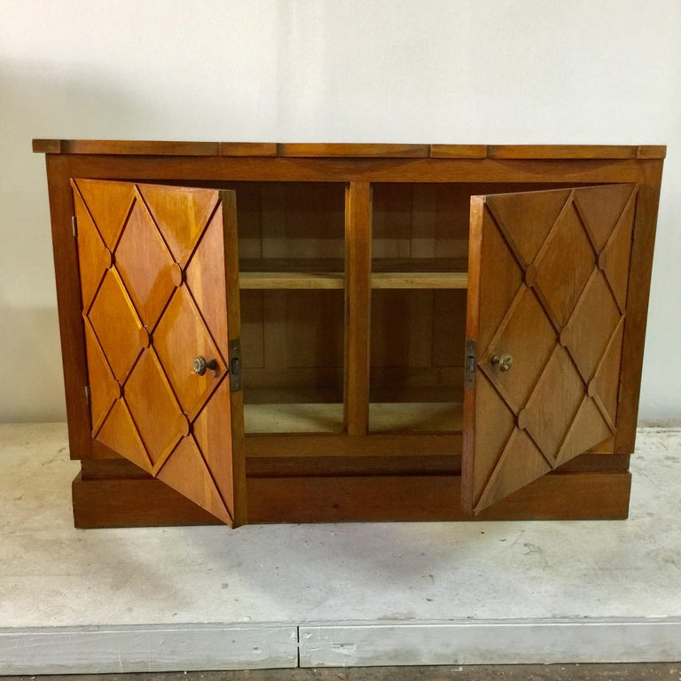 """Mid-20th Century French Midcentury """"Croissilon"""" Lattice Front Sideboard For Sale"""