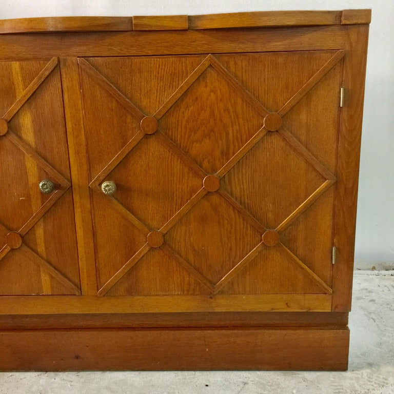 """French Midcentury """"Croissilon"""" Lattice Front Sideboard For Sale 1"""