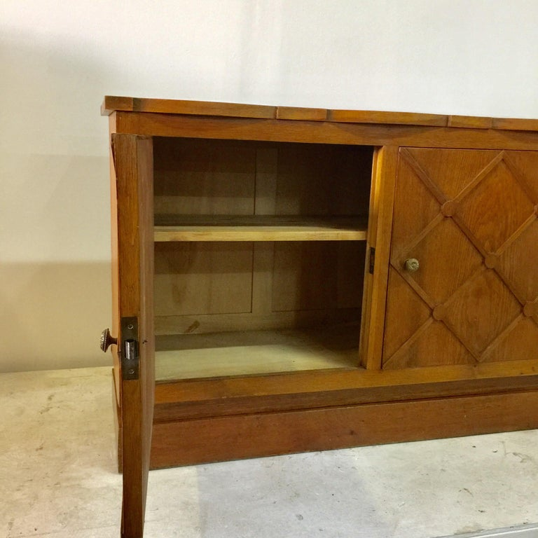 """French Midcentury """"Croissilon"""" Lattice Front Sideboard For Sale 2"""