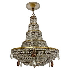French Mid Century Crystal Chandelier
