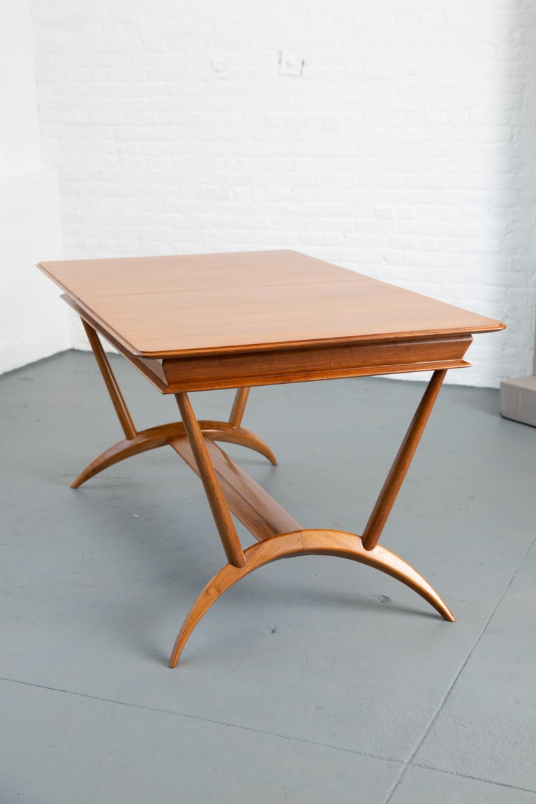French Mid-Century Dining Table/Desk with Leaf For Sale 5