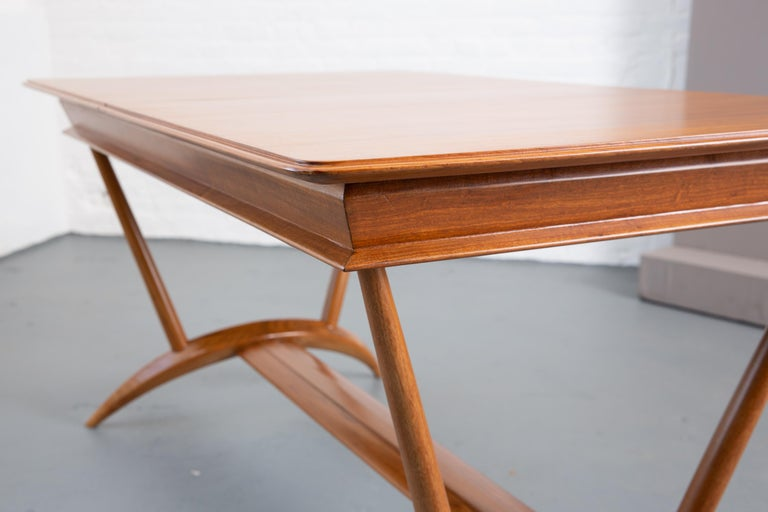 French Mid-Century Dining Table/Desk with Leaf For Sale 6
