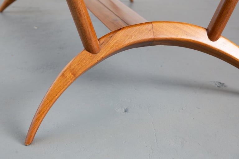 French Mid-Century Dining Table/Desk with Leaf For Sale 8