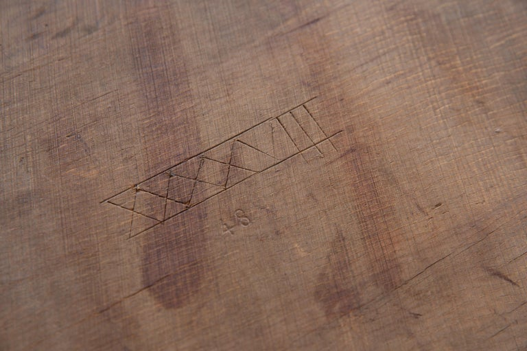 French Mid-Century Dining Table/Desk with Leaf For Sale 9