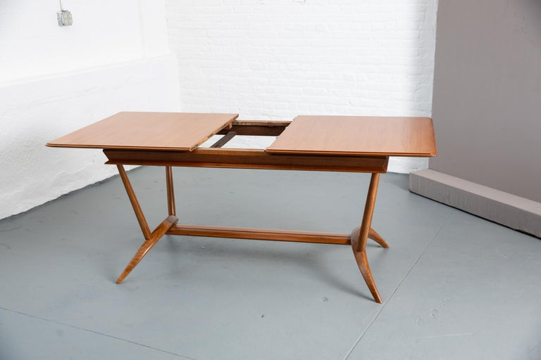 French Mid-Century Dining Table/Desk with Leaf For Sale 10