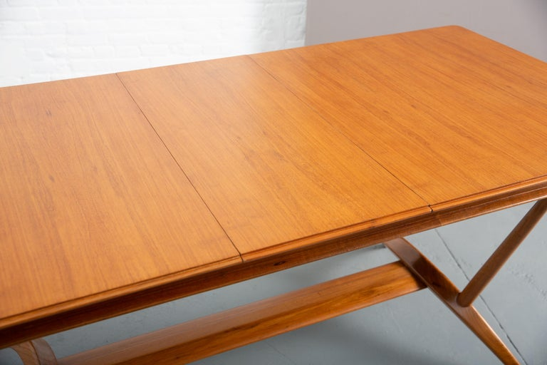 French Mid-Century Dining Table/Desk with Leaf For Sale 11