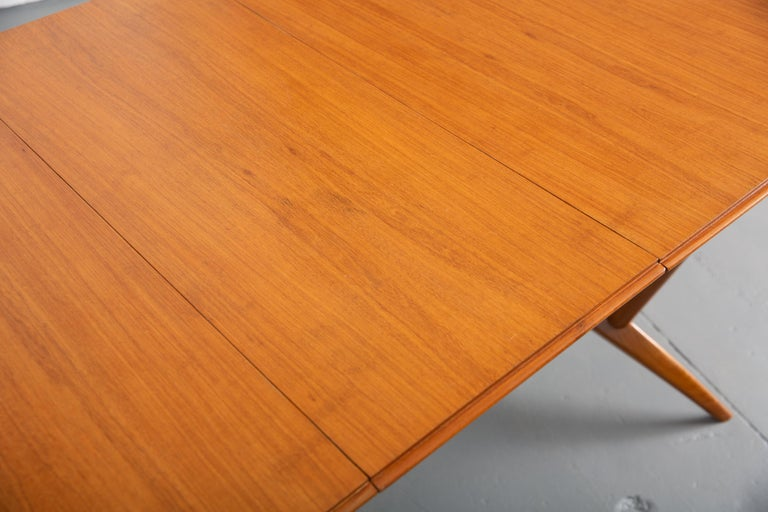 French Mid-Century Dining Table/Desk with Leaf For Sale 12