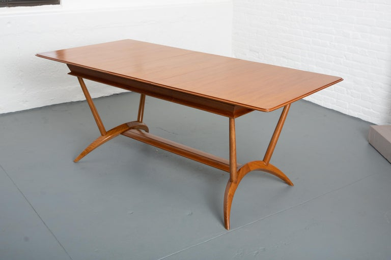 French Mid-Century Dining Table/Desk with Leaf For Sale 13