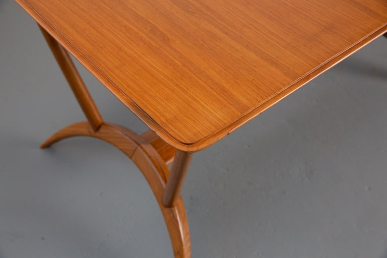 Mid-Century Modern French Mid-Century Dining Table/Desk with Leaf For Sale
