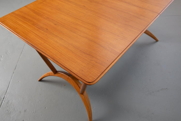 Mid-20th Century French Mid-Century Dining Table/Desk with Leaf For Sale