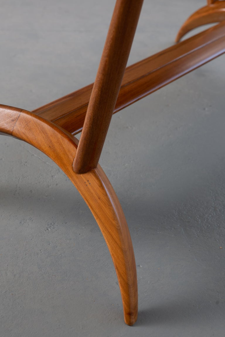Wood French Mid-Century Dining Table/Desk with Leaf For Sale