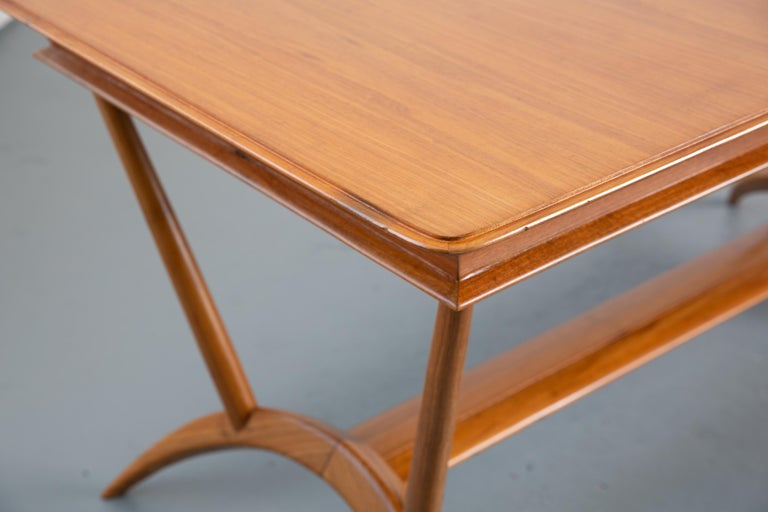 French Mid-Century Dining Table/Desk with Leaf For Sale 2