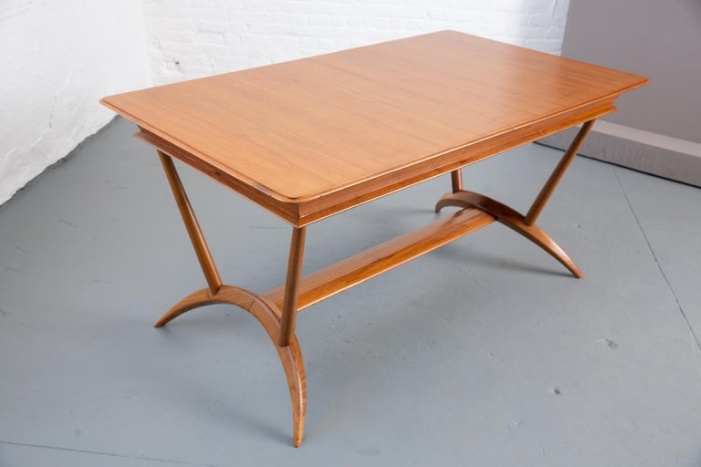 French Mid-Century Dining Table/Desk with Leaf For Sale 3