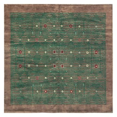 French Midcentury Leleu Signed Rug