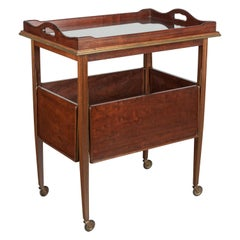 French Mid Century Mahogany Bar Cart