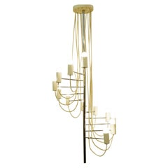 French Midcentury Minimalist 'A16' Chandelier by Alain Richard for Disderot