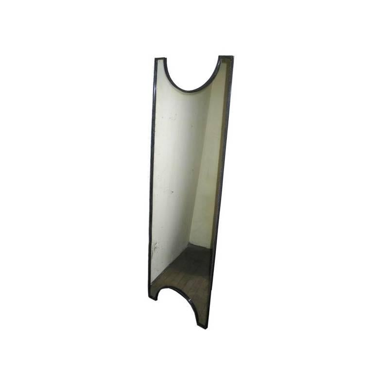 French Mid-Century Modern / Art Deco Silvered Bronze Mirror, 1930