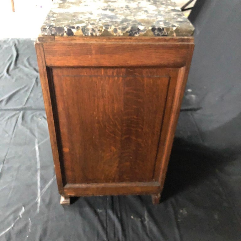Marble French Mid-Century Modern Art Deco Side Table or Nightstand For Sale