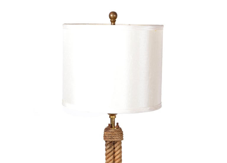 French Mid-Century Modern Audoux Minet Rope Table Lamp For Sale 5