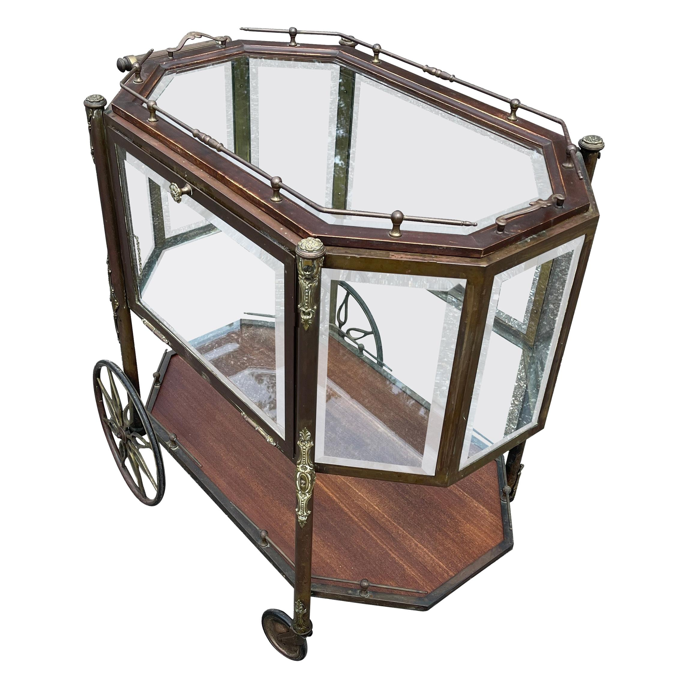 French Mid-Century Modern Bar or Pastry Cart, circa 1940's