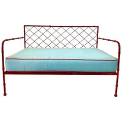 """French Mid-Century Modern """"Croissilon"""" Settee Manner of Jean Royère"""