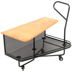 French Mid-Century Modern Extra Dry Serving Trolley by Mathieu Matégot, 1952