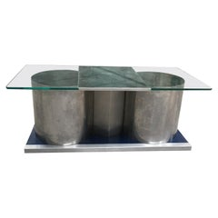 French Mid-Century Modern Francois Monnet Coffee and Cocktail Table, 1970s