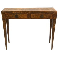 French Mid-Century Modern Fruit Wood Console / Desk, Circle of Jean-Michel Frank