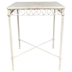 French Mid-Century Modern Garden Table in the Style of Mategot