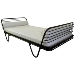 French Mid-Century Modern 'Kyoto' Enameled Iron Daybed / Bed by Mathieu Matégot