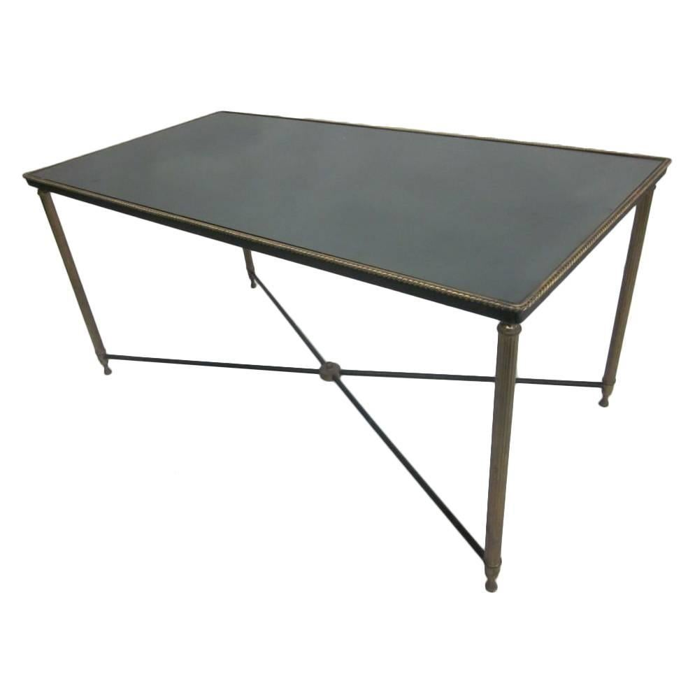 French Mid-Century Modern Neoclassical Cocktail Table, Attr. Maison Jansen