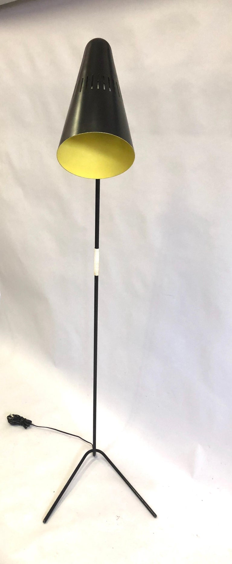20th Century French Mid-Century Modern Prototype Floor Lamp, Serge Mouille & Pierre Guariche For Sale